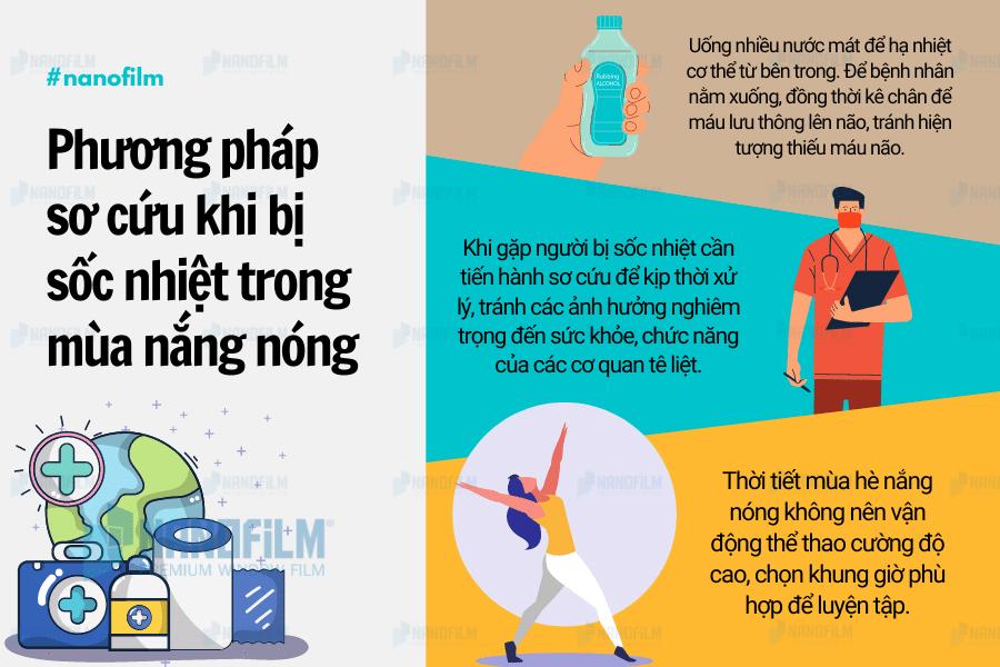 Phương pháp sơ cứu khi bị sốc nhiệt trong mùa nắng nóng