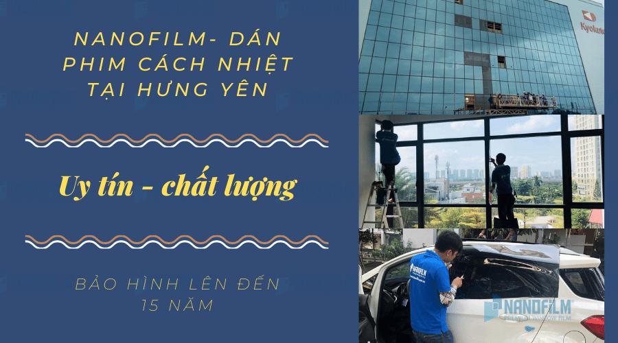 Đơn vị dán phim cách nhiệt chất lượng cao tại Hưng Yên