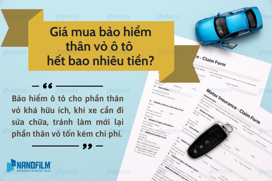 Giá mua bảo hiểm thân vỏ ô tô hết bao nhiêu tiền?