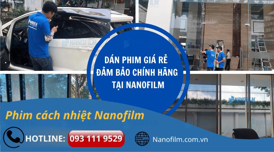 Dịch vụ dán phim giá rẻ đảm bảo chính hãng tại Nanofilm