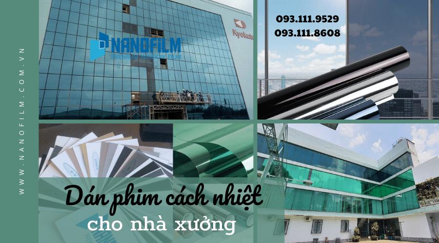 Dán film cách nhiệt cửa kính nhà xưởng tại Hưng Yên