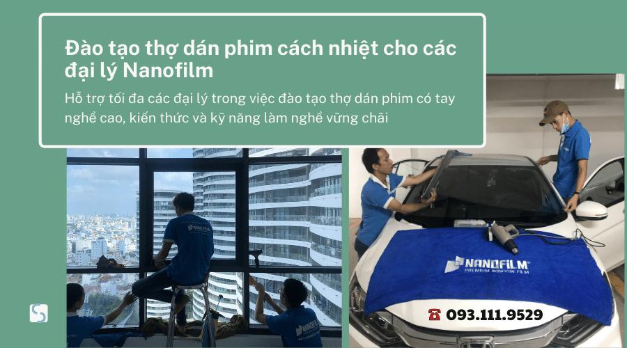 Đào tạo thợ dán phim cách nhiệt cho các đại lý Nanofilm
