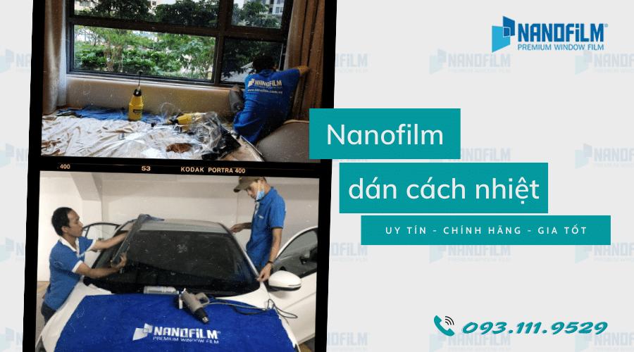 Nanofilm dán film cách nhiệt tại Vĩnh Phúc uy tín giá tốt