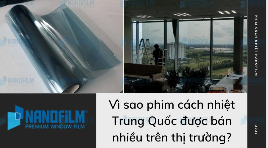 Vì sao phim cách nhiệt Trung Quốc được bán nhiều trên thị trường?