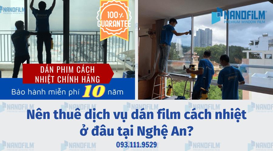 Nên thuê dịch vụ dán film cách nhiệt ở đâu tại Nghệ An?
