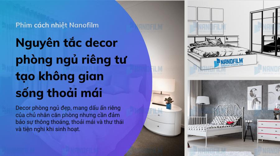 Nguyên tắc decor phòng ngủ riêng tư tạo không gian sống thoải mái