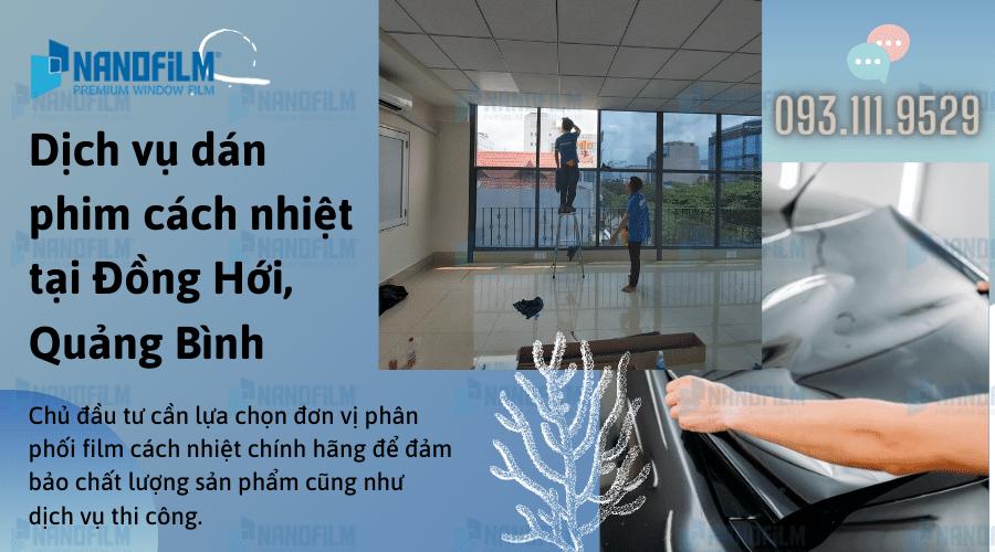 Dịch vụ dán phim cách nhiệt tại Đồng Hới, Quảng Bình