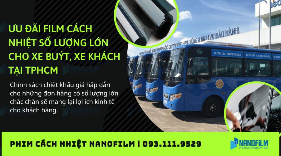 Ưu đãi film cách nhiệt số lượng lớn cho xe buýt, xe khách tại TPHCM