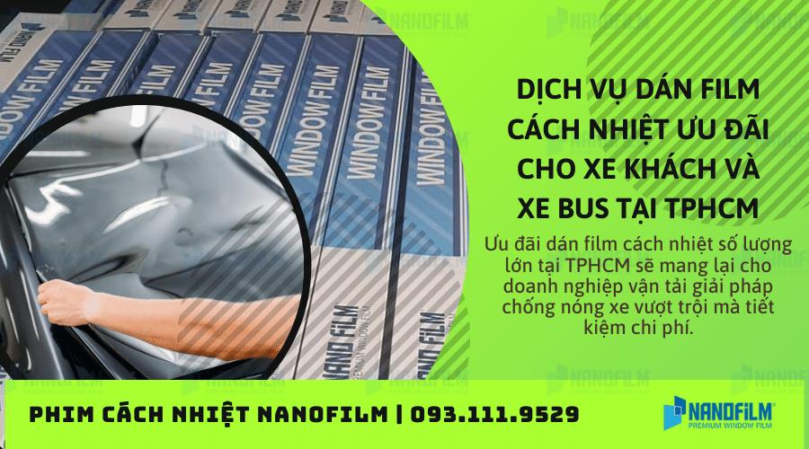 Dịch vụ dán film cách nhiệt ưu đãi cho xe khách và xe bus tại TPHCM