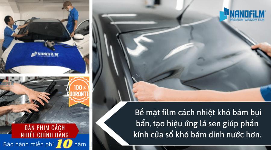 Sử dụng film cách nhiệt ô tô cao cấp cho phần cửa sổ gần ghế lái