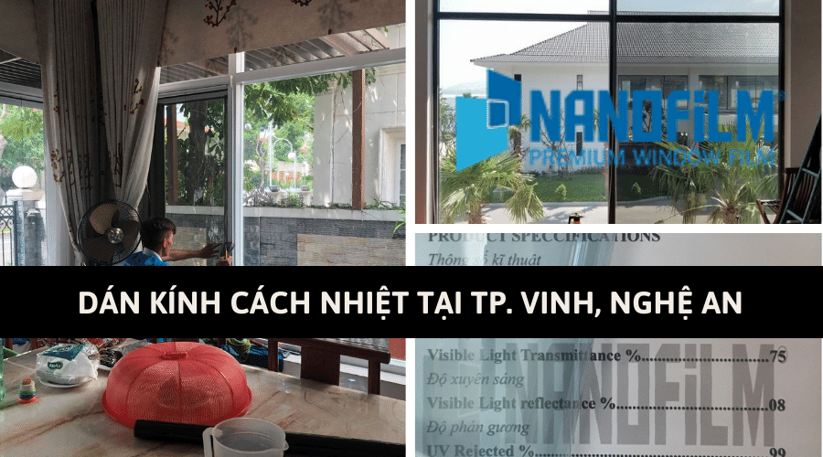 Báo giá dán kính cách nhiệt tại TP. Vinh, Nghệ An