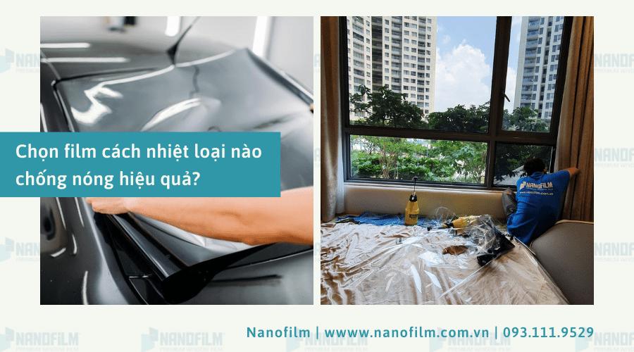 Chọn film cách nhiệt loại nào chống nóng hiệu quả?