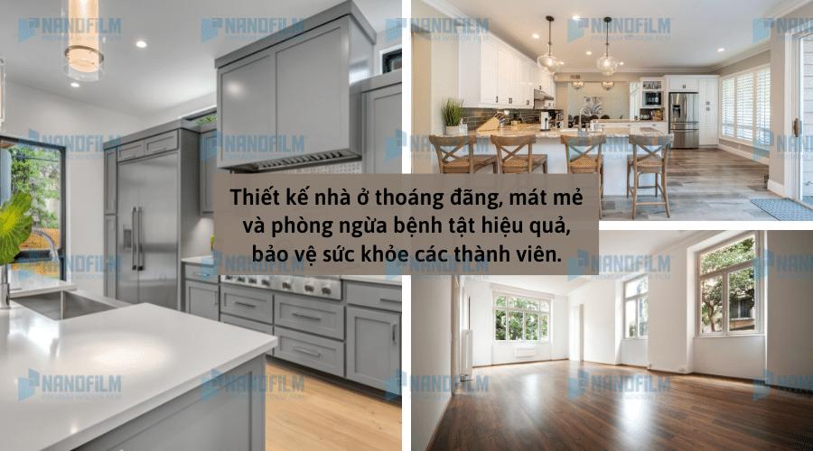 Thiết kế nhà ở đảm bảo ánh sáng phòng ngừa virus