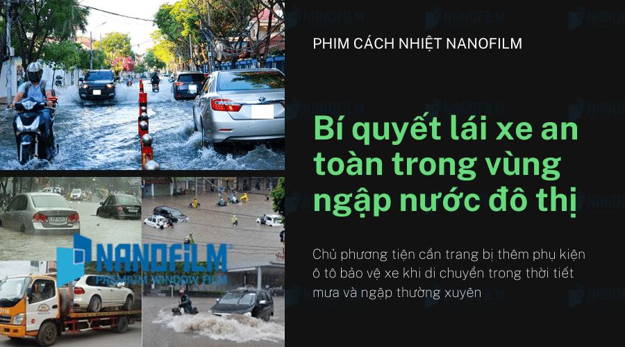 Bí quyết lái xe an toàn trong vùng ngập nước đô thị