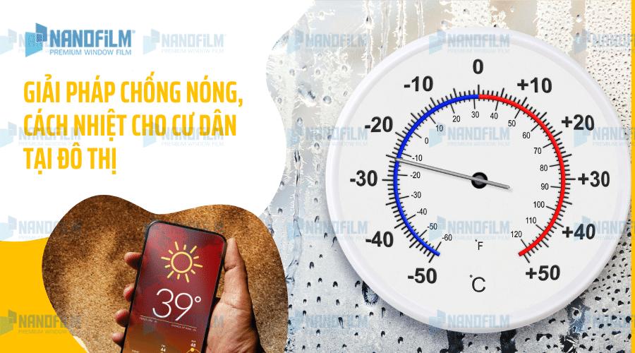 Giải pháp chống nóng, cách nhiệt cho cư dân tại đô thị