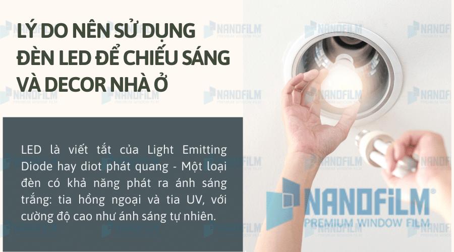 Lý do nên sử dụng đèn led để chiếu sáng và decor nhà ở