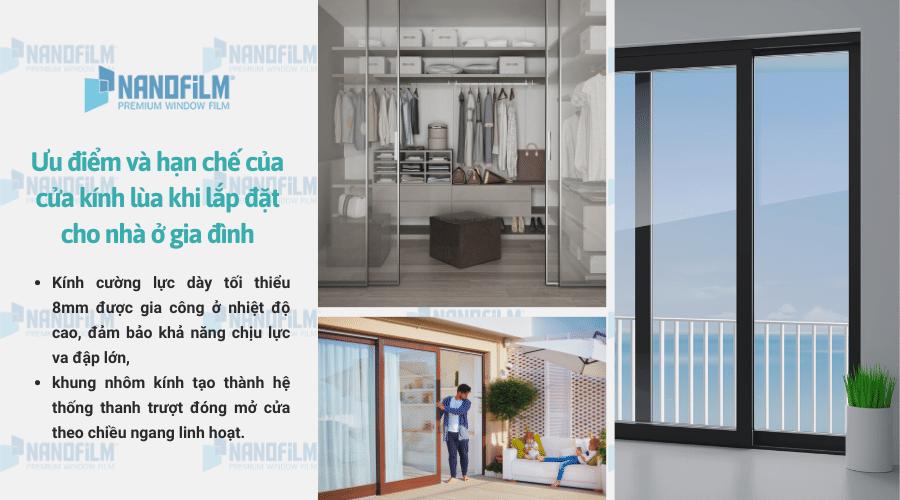 Lắp cửa kính lùa cho nhà ở gia đình có an toàn không?